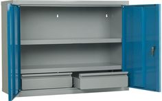 Storage Design Limited - Cabinets & Lockers - Tool Storage - Workshop Storage - Workshop Wall Cupboard - 2 Shelves & 2 Drawers