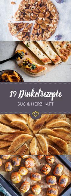 Wer hätte gedacht, dass Dinkel unsere Foodblogger so beflügelt. Was du herzhaftes und süßes mit dem Korn zubereiten kannst, zeigen diese 19 Rezepte.