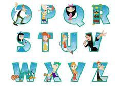 Make party banner with Phineas and Ferb letters