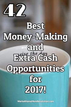 I've found numerous ways to bring in extra cash and save money, as well as a number of home business opportunities that can be started on a budget. If you're ready to get serious about making money from home and working from home, then this list will be a great resource - 42 Best Money-Making and Extra Cash Opportunities for 2017! You can work at home!