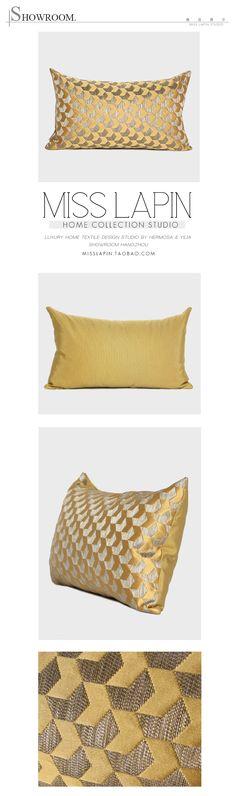简约现代/样板房家居软装布艺沙发靠包抱枕/黄色箭头图案提花腰枕-淘宝网