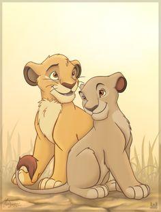 62 Mejores Imagenes De Simba Y Nala Walt Disney Disney Cartoons Y
