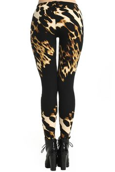 Irregular Leopard Print Leggings #Romwe