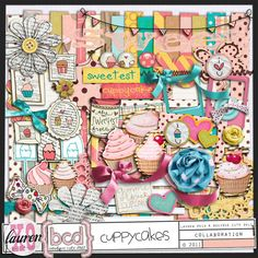 I am so into cupcakes right now and wanted to make cards with them on it! This kit is yummy!