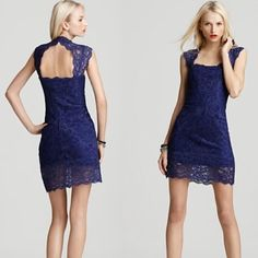 Nicole Miller Stretch Lace Dress