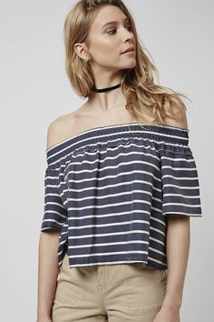 Photo 2 of Stripe Smock Bardot Blouse
