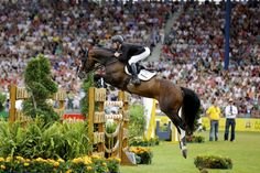 Marcus Ehning and the 17 year old Plot Blue Aachen 2013 ~ ph. Noelle Floyd