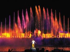 At Sentosa , Singapore -This iconic attraction doesn't only show the glitz of the dancing fountain,but also the combination of the light's effects from the laser,the music,&the fireworks that's supported by advanced technology. #Song of the Sea contains a story that makes this attraction unusual.