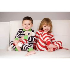 Love these striped pjs!  citrus lane for the littles