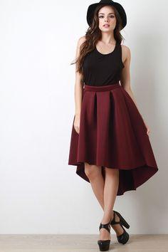 Scuba Box Pleated A-Line Skirt