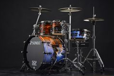 Sonor SQ2 drumkit, special edition airbrushed by MachArt Customs