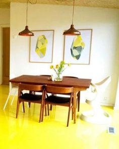 Floor yellow love nybyggerne
