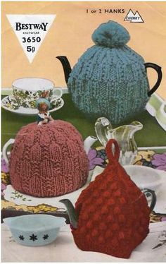 knit tea cozies