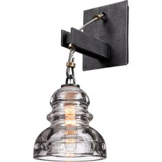 Troy Lighting Menlo Park 1 Light Wall Sconce with Glass Insulator Shade industrial-wall-sconces Glass Insulators, Wall Lights, Troy Lighting, Light, Wall Sconce Lighting, Vintage Wall Sconces, Lights, Insulator Lights, Silver Walls