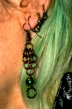 Dew Drop Chinmaille Earrings by EotBDesigns on Etsy, $26.00