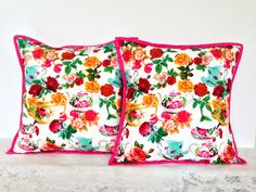 English Rose Decorative Pillow Cover 16 by by AddaSplashofColour Home Decor, Decorative Pillow, English Roses, Gardens, Flowers, Cottage Charm, Country style pillow, Country Decor, Gift for Grandma, Gift for Mum, Gift for her, Colourful floral pillow