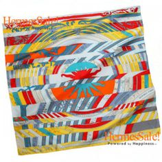 Hermes Astrologie Nouvelle Yellow Silk Twill Scarf 90cm