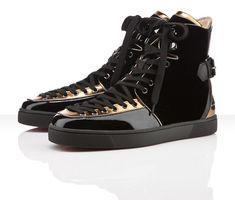 Christian Louboutin Alfie Flat Black Velvet Sneakers Fall/Winter 2011