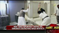 """We saw new video this morning on """"America's Newsroom"""" of #ISIS #terrorists destroying ancient artifacts in the Iraqi city of Mosul. Conor Powell reported (video above) that this is yet another attempt by ISIS to destroy Iraq and Syria's cultural history. Some of the artifacts dated back to the 7th and 8th centuries."""