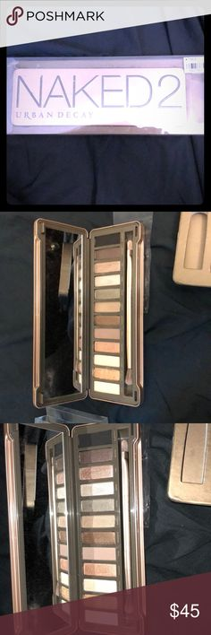 Brand new Urban decay naked 2 palette Brand new Urban decay naked 2 palette only swatched never used bundle for lower priced shipping even if it's just one item! Urban Decay Makeup Eyeshadow