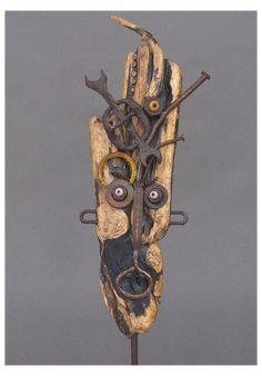 Driftwood Sculpture, Sculpture Art, Sculptures, Driftwood Crafts, Driftwood Jewelry, Metal Garden Art, Found Object Art, Scrap Metal Art, Junk Art