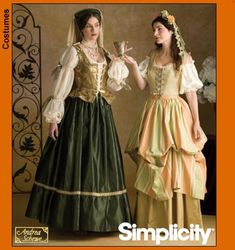 Relatively accurate ren-faire garb - Simplicity 3809 also 8249, 8715 and 5293