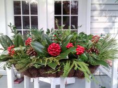 Patio Christmas Arrangement