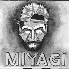 Work by ✏️🖊📐 #мияги #miyagi #hajime #art #artwork #pencil #blackwork #creative #vectorart #design #graphic #graphicdesign #concept #conceptart #illustration #digitalart #beautiful #artoftheday 🎧😌 @miyagi_black @endshpielfans 😍