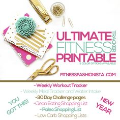 Ultimate Fitness Tracker Printable - Fitness Fashionista
