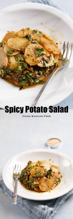 Spicy sliced potato salad