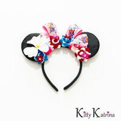Lilo and Stitch Disney Ears Headband Mouse Ears by LUVKittyKatrina Disney Ears Headband, Disney Headbands, Head Wrap Headband, Ear Headbands, Disney Mouse Ears, Mickey Ears, Minnie Mouse, Lilo And Stitch 2002, Stitch Character