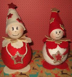 Folletti di Natale Cute Crafts, Christmas Crafts, Crafts For Kids, Christmas Decorations, Holiday Decor, Winter Christmas, Christmas Time, Christmas Sewing, Holiday Ornaments