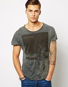 Pull&Bear T-Shirt With Skeleton Print