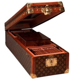 Store your favorites smokes in this Louis Vuitton cigar box