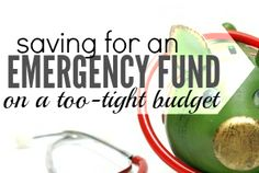 pin - starting an emergency fund on a tight budget
