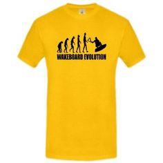 """Cooles Wakeboard T-Shirt - bekannt als """"Wakeboard Evolution""""-Shirt für Männer/Herren nur 14,95€"""