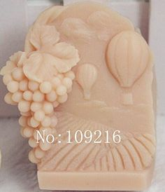 Creativemoldstore 1pcs The Grape Farm(zx019) Craft Art Silicone Soap Mold Craft Molds DIY Handmade Soap Mould * Check out this great product.