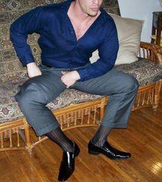 Sheer Socks, Suit Pants, Dress Socks, Mens Fashion Suits, Sheer Dress, Men Dress, Latest Fashion, Guys, Sexy