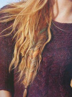 love the colorful fishtail braid