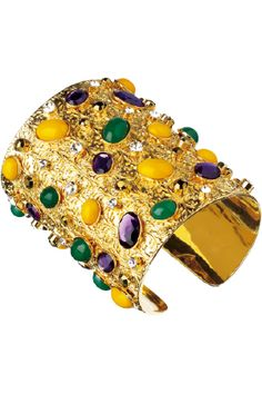 Mardi Gras  It's like a fabergé egg on a cuff.