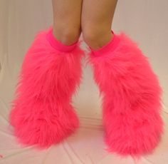 Haha cute fuzzy boots #pink #colorpink
