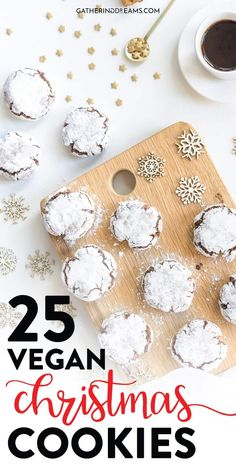recipes healthy baking 25 Irresistible Vegan Christmas Cookies You Need to try! LET'S BAKE SOME CHRISTMAS COOKIES! 25 Epic Vegan Christmas cookies that you need to bake right now for a delicious Christmas. The perfect recipes to try! Vegan Christmas Desserts, Vegan Christmas Cookies, Christmas Baking, Christmas Treats, Vegan Desserts, Vegan Dishes, Christmas Christmas, Easy Vegan Cookies, Vegan Treats