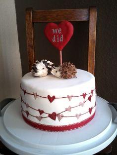 sweet little anniversary cake