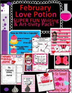 Valentine Love Potion Writing & Craft Pack! #editableprintables #freeprintables