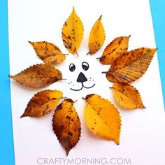 Leaf Crafts that will delight the whole family! Simple and effective craft projects that use fall leaves. Enjoy these gorgeous Leaf Crafts. Lion Kids Crafts, Leaf Crafts Kids, Lion Craft, Animal Crafts For Kids, Crafts For Kids To Make, Toddler Crafts, Preschool Crafts, Fun Crafts, Art For Kids