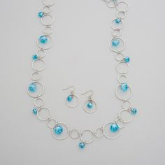 Bead Drop Necklace Set | Affordable Costume Jewelry, Necklace and Earring Set | Purple Box Jewelry