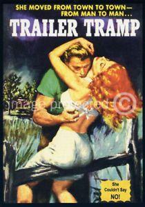 Trailer-Tramp-Vintage-pasta-capa-livro-arte-Retro-cartaz