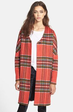 Style Stealer: Open Front Plaid Coat