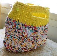 Kesälaukku trikookuteesta - VillaNanna - Kauneus  trendit Ali Baba, Diy, Bags, Handbags, Bricolage, Do It Yourself, Homemade, Diys, Bag