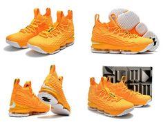 cheaper 8ffa6 8f583 Spring Summer 2018 Popular Nike LBJ Lebron 15 XV Bright Citrus Electric  Yellow White Popular Sneakers